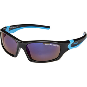 Alpina Flexxy Teen Brille Kinder black-cyan